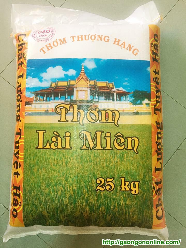 Gạo thơm lài miên bao 25kg