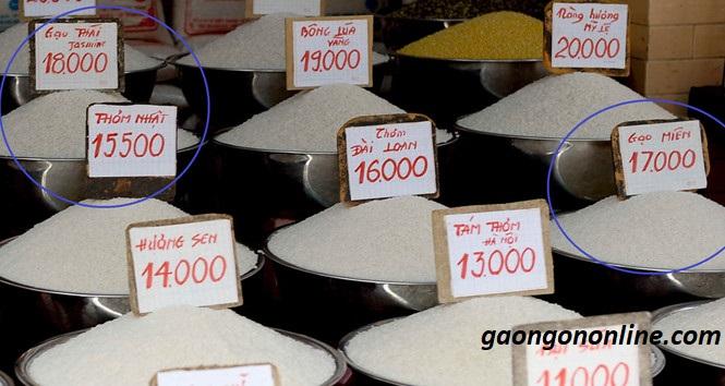 Các loại gạo và giá
