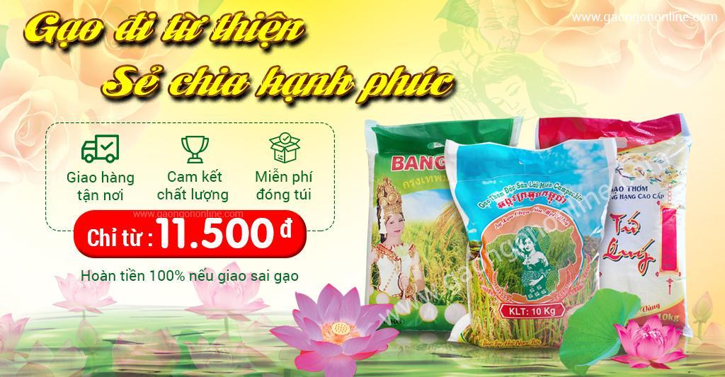 gạo từ thiện giá rẻ