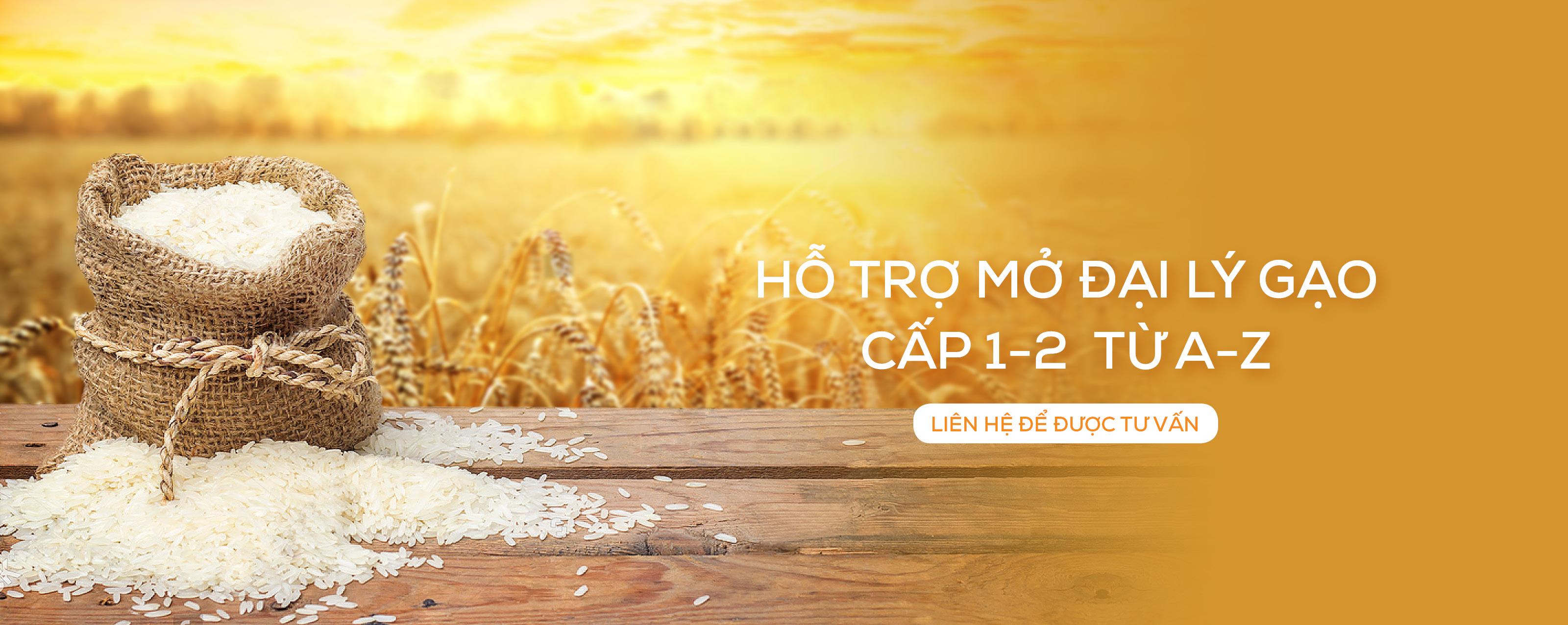 Hỗ trợ mở đại lý gạo