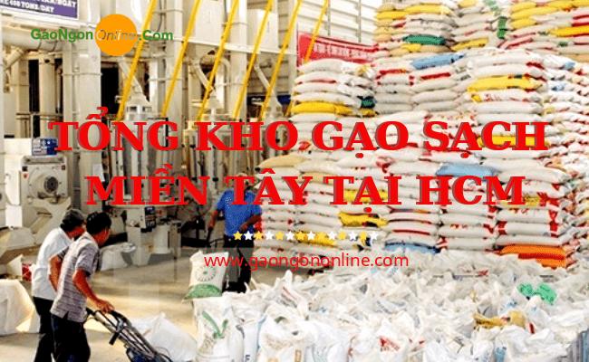 Gạo Ngon Online kho gạo một trong những kho gạo sạch miền tây lớn uy tín nhất tại HCM